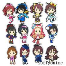 THE IDOLM@STER Rubber pendant Mio Kamijo Haruna Ichihara Nina Yuki original Collection anime Mobile Phone charm strap Keychain
