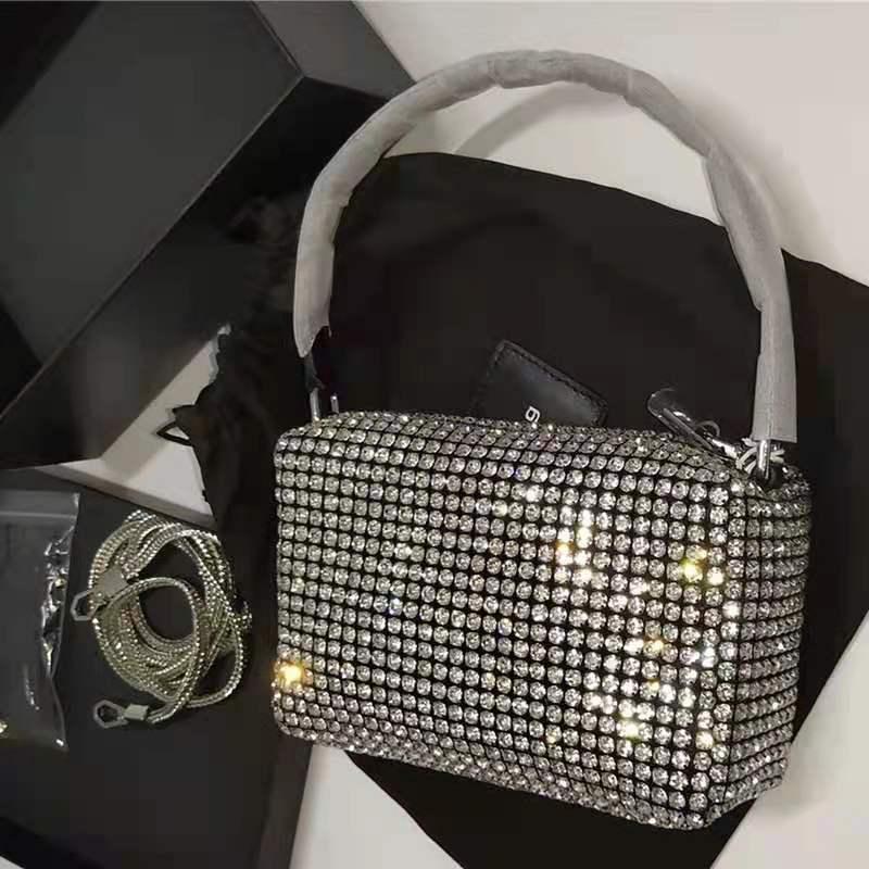 New Luxury Brand Designer Women Bags Rhinestone Bag Biling Flashing Diamond Full Mini Bags Female Underarm Bag