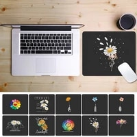 mouse pad small mat mouse keyboard pad table mat waterproof pu leather daisy pattern table mat mouse pad for laptop
