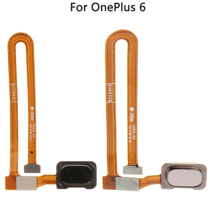 Para um plus 6 1 + 6 botão chave de casa sensor impressão digital conectar cabo flex peça substituição para oneplus 6