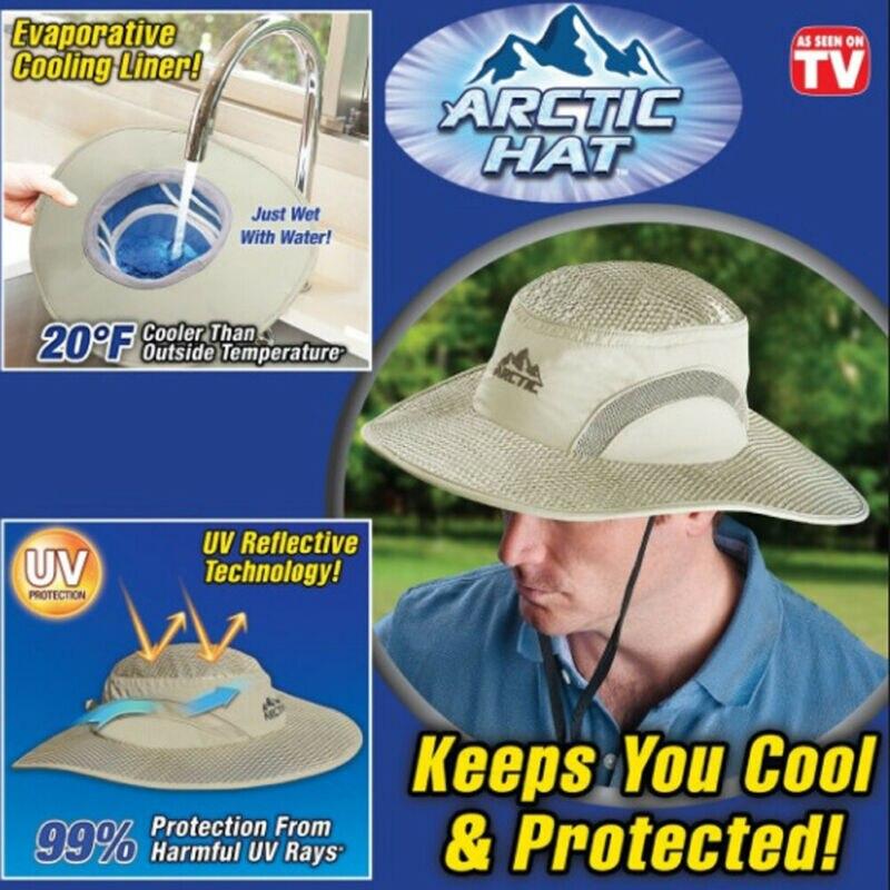 Feminino masculino unissex arctic hat hidro balde de refrigeração chapéu com proteção uv manter refrigerar tampas protegidas