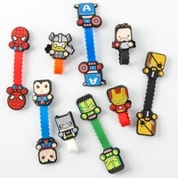 disney superman cable winder cable organizer data cable earphone storage cable winder hub