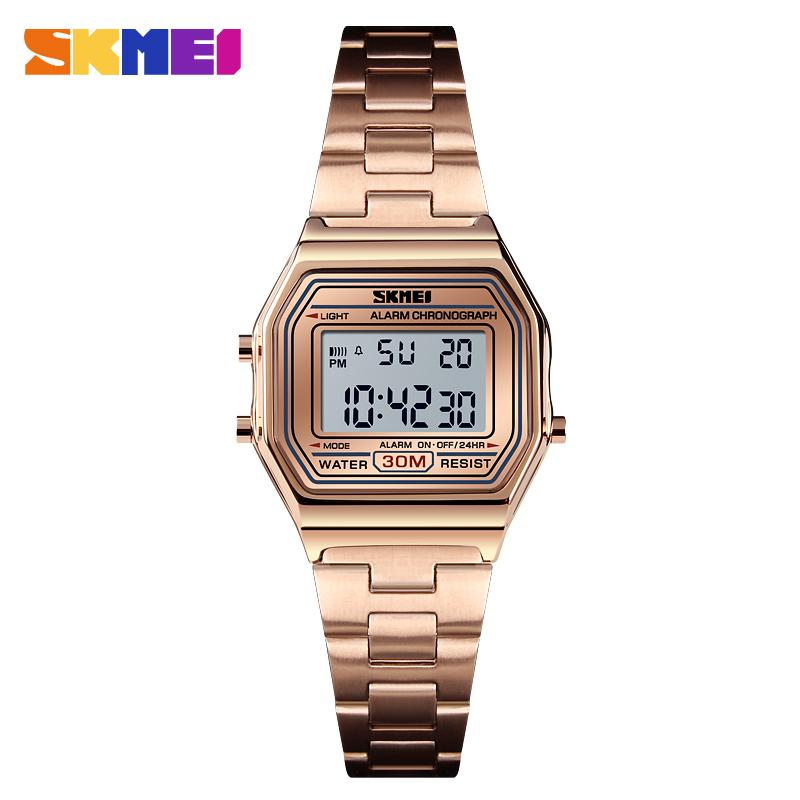 SKMEI Luxury Women Watch Casual Gold Wristwatch Thin Strap Watches 30m Waterproof Ladies Wrist Watch Relogio Feminino 1415 enlarge