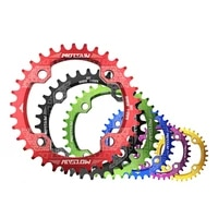 mtb bicycle round shape narrow wide chainwheel 32t34t36t38t 104bcd chainring bike circle crankset single plate bicycle parts