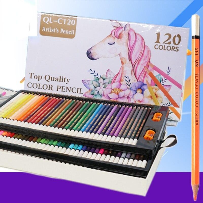 120 pcs set oleosa lapis papelaria definir iniciantes entrada arte feita sob encomenda