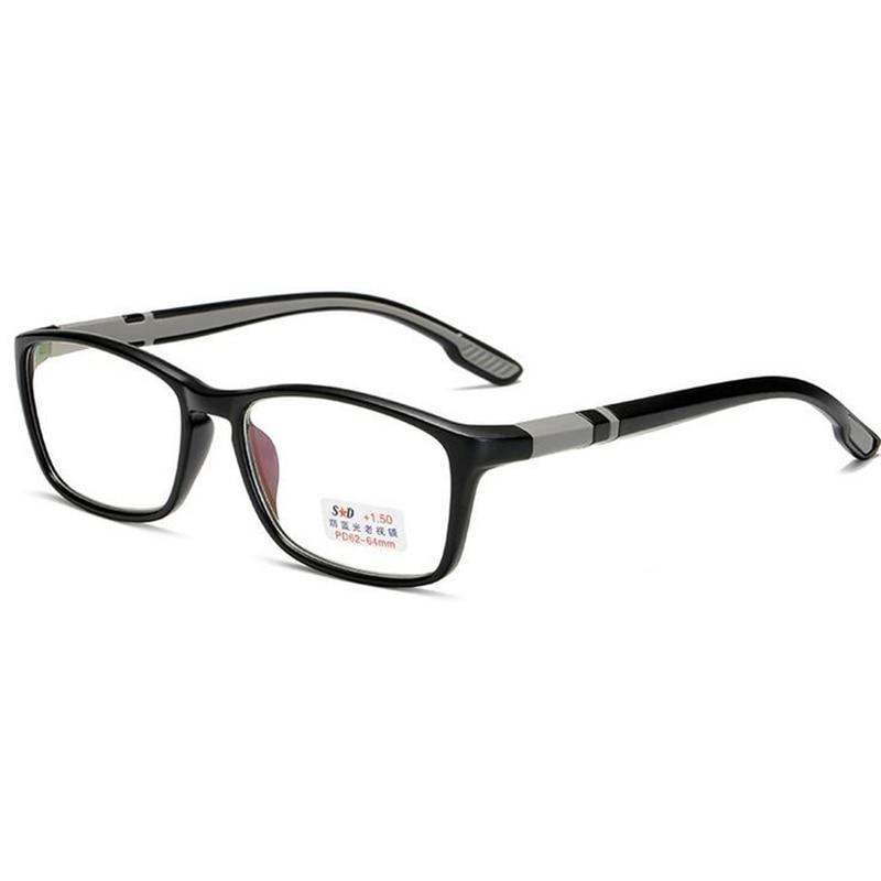 Women Men Anti-blue Light Reading Glasses Portable Comfortable TR90 Elderly Reader Eyeglasses Magnifier +1.0 +1.5 To +4.0