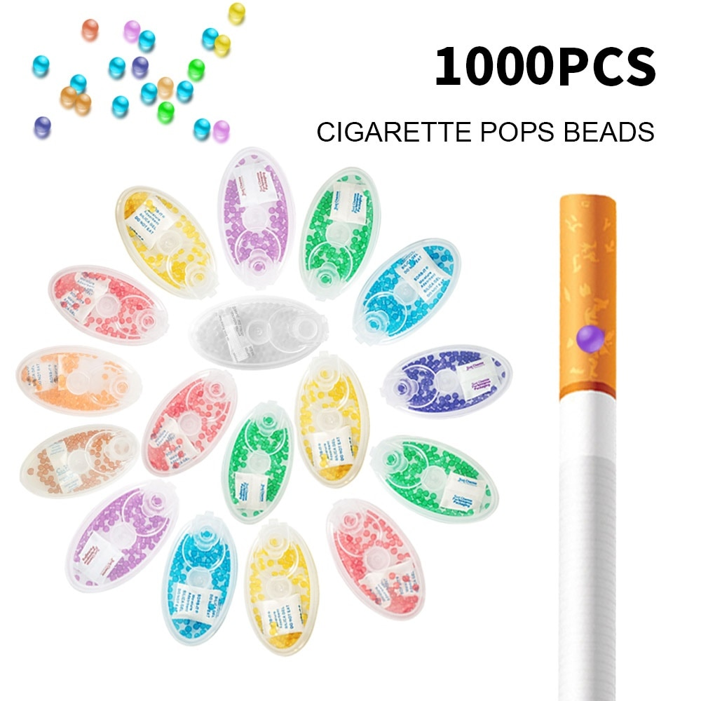 1000Pcs Mixed Fruit Ice Mint Beads Cigarette Filter Popping Capsule Ball Smoking Holder Accessories Tools For Men Smoking Gifts