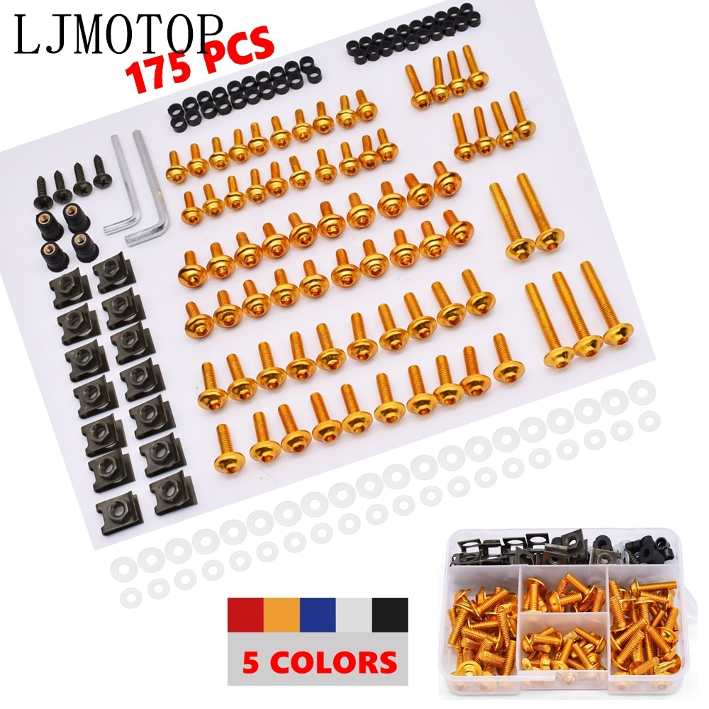 Aluminum Motorcycle Fairing Screws Nuts Kit Moto Body Work Bolts Screw For 525SX sx 65 85 125 150 250 450 525 65XC 85XC