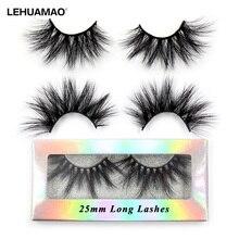 LEHUAMAO Wimpern 3D Wimpern 25mm Nerz Falsche Eyelashe Flauschigen Weichen Wimpern Dramatische Make-Up Wimpern Nerz 3D Lash Natur Lange g05