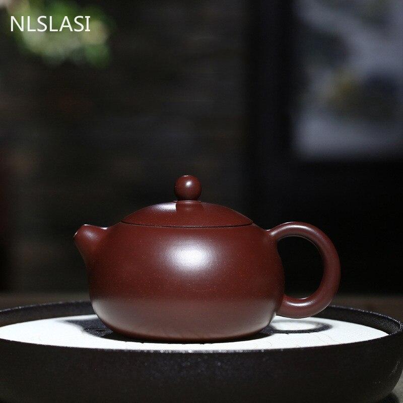 Yixing أواني الشاي الأرجواني الطين تصفية إبريق الشاي الخام خام تشو الطين الجمال غلاية اليدوية مخصصة حفل الشاي الصيني هدايا 210 مللي