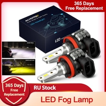 AUXITO-Lámpara LED antiniebla para coche, accesorio para BMW VW Benz Audi A3 8P A4 B8 B6 A6 C6 C7 BMW E60 E90, 2x 2000LM H8 H11 H16JP 9005 HB3 9006 HB4