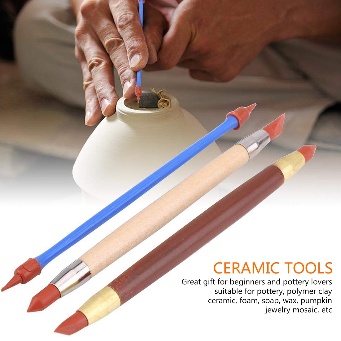 30pcs Clay Sculpting Kit Sculpt Smoothing Wax Carving Pottery Ceramic Tools Polymer Shapers Perfect Modeling Carved Tool