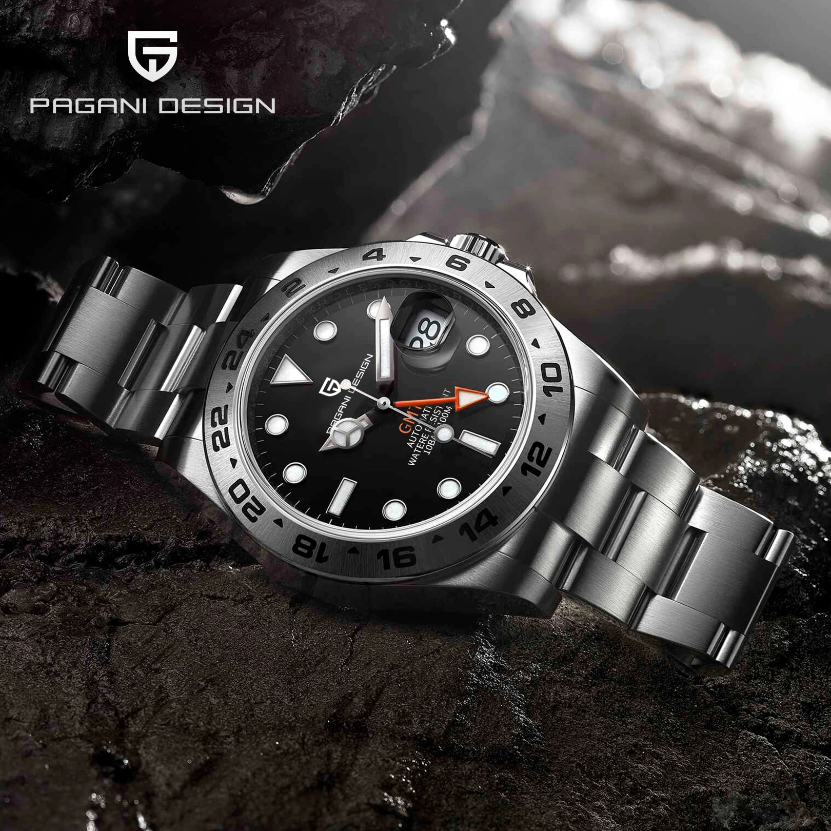 2021 New PAGANI DESIGN Men's Mechanical Watches Brand Luxury GMT Automatic Watches Men Waterproof Wristwatch Relogio Masculino