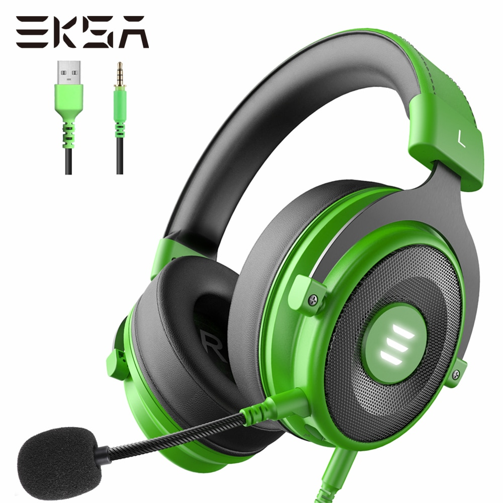 Gaming Headset Gamer EKSA E900 Pro 7.1 Surround Wired Headphones PC USB/3.5mm Earphones For PS4 Xbox with Noise-Canceling Mic music gaming headset surround sound with mic earphones usb 7 1