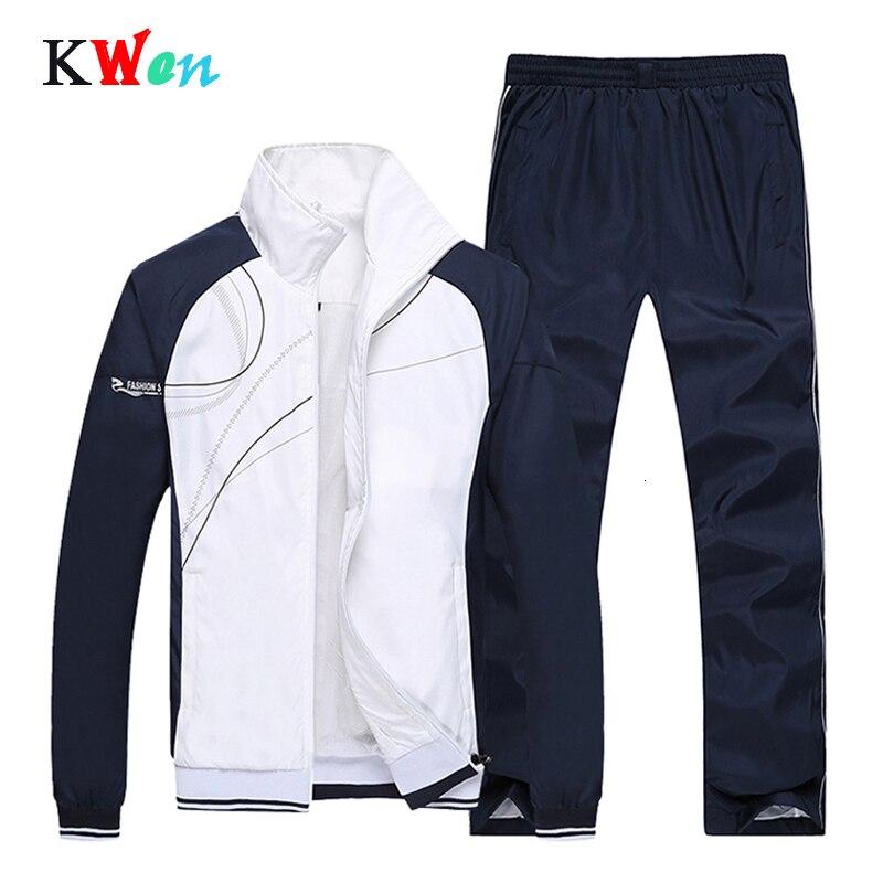 Men's Sports Suit Fashionable Autumn Spring Suit Sweatshirt +Sweatpants Male Sportswear Clothing 2 Pieces Sets Slim Tracksuit