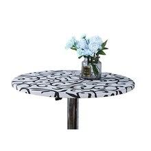 60/70/80/90/100/120/150cm de diâmetro redondo toalha de mesa cocktail pano de mesa barra de café capa de mesa de festa de casamento decoração