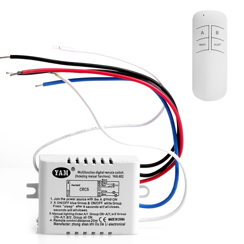 Беспроводной передатчик приемника с дистанционным управлением 1/2/3/Channel ON/OFF