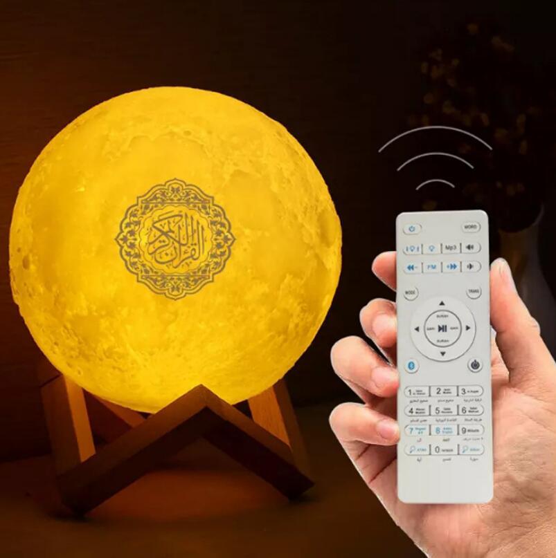 FM Muslim Quran Koran Ramadan Full Chapter Bluetooth Speaker Moon Light Player Audio Outdoor Speakers enlarge