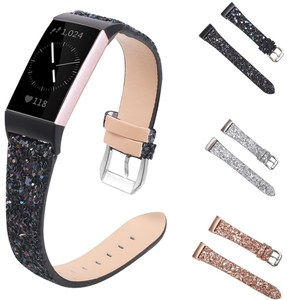 Replacement For Fitbit Charge 3 4 Bands Leather Straps Band Interchangeable Smart Fitness Watch Band With Stainless for Charge2