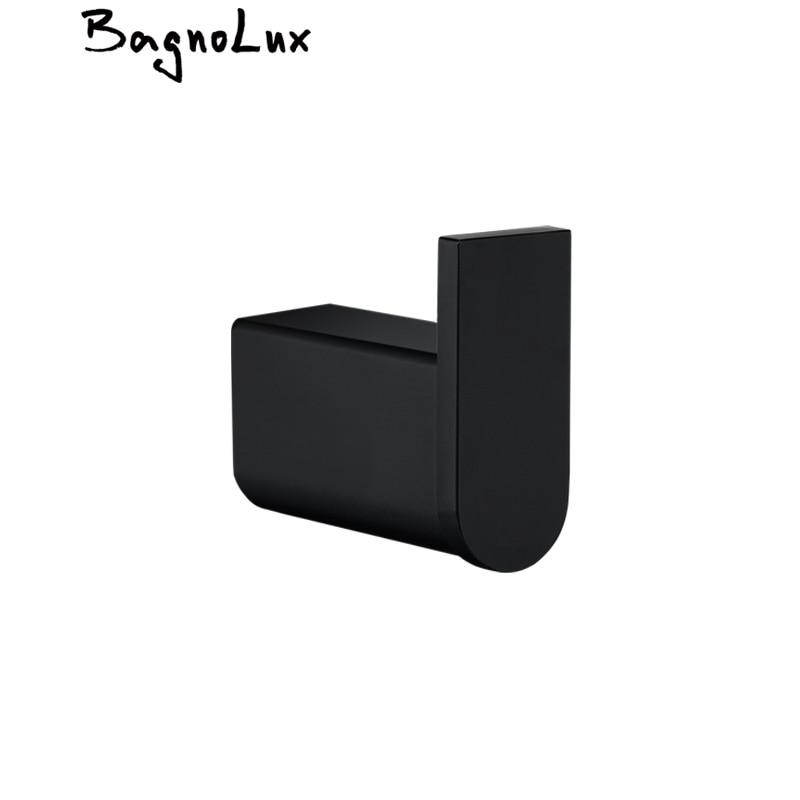 غرامة مصنع إنتاج هوك ملابس s أسود واحد شماعة فوط فولاذية هوك هوك ملابس حمالة تعليق جدارية الحمام التبعي