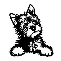 personality cute yorkie dog cartoon graffiti car sticker styling sunscreen decal decorative pvc vinyl cover scratches waterproof