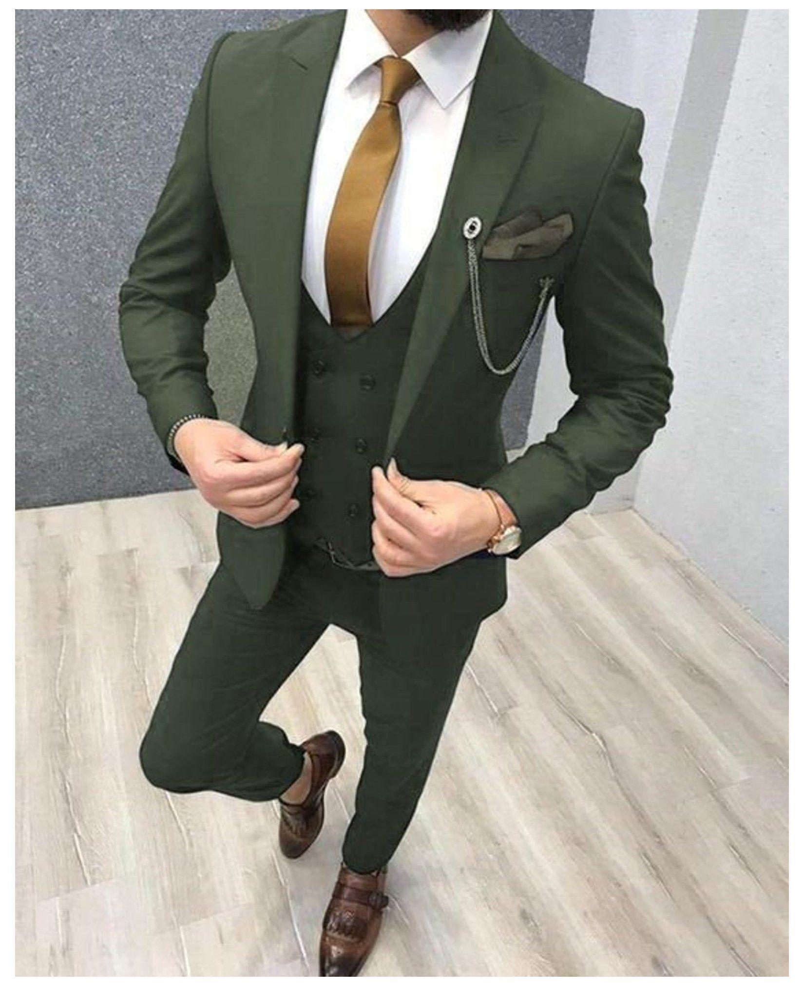 Мужской облегающий костюм из 3 предметов, мужской Блейзер, смокинг, мужской деловой пиджак + жилет + брюки