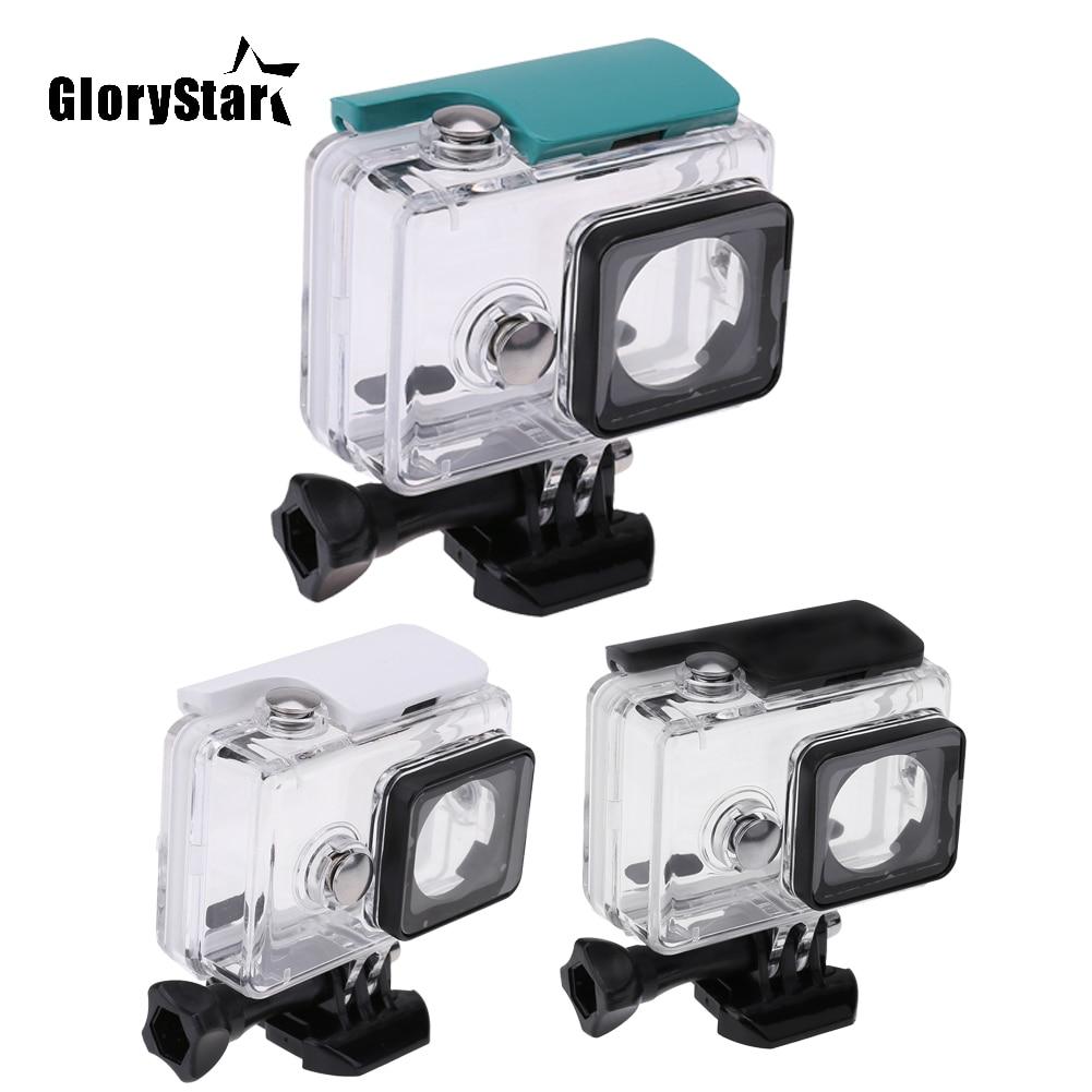 GloryStar-جراب مقاوم للماء لكاميرا Xiaomi Yi ، جراب واقٍ لكاميرا الحركة تحت الماء ، عمق 45 متر