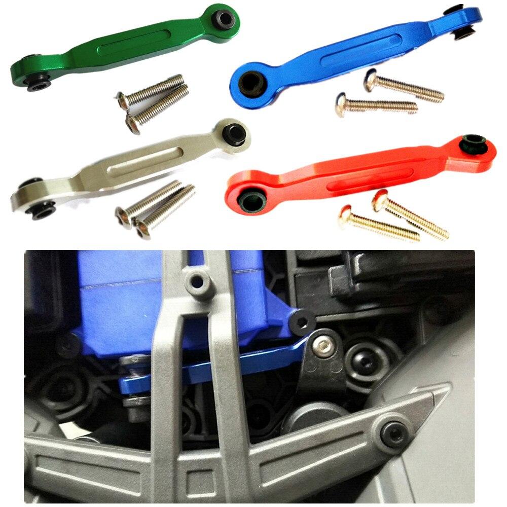 Alumínio servo direção ligação 46mm anti queda design para traxxas 1/5 X-MAXX 7747 1/10 novo maxx 8947 rc atualizar parte