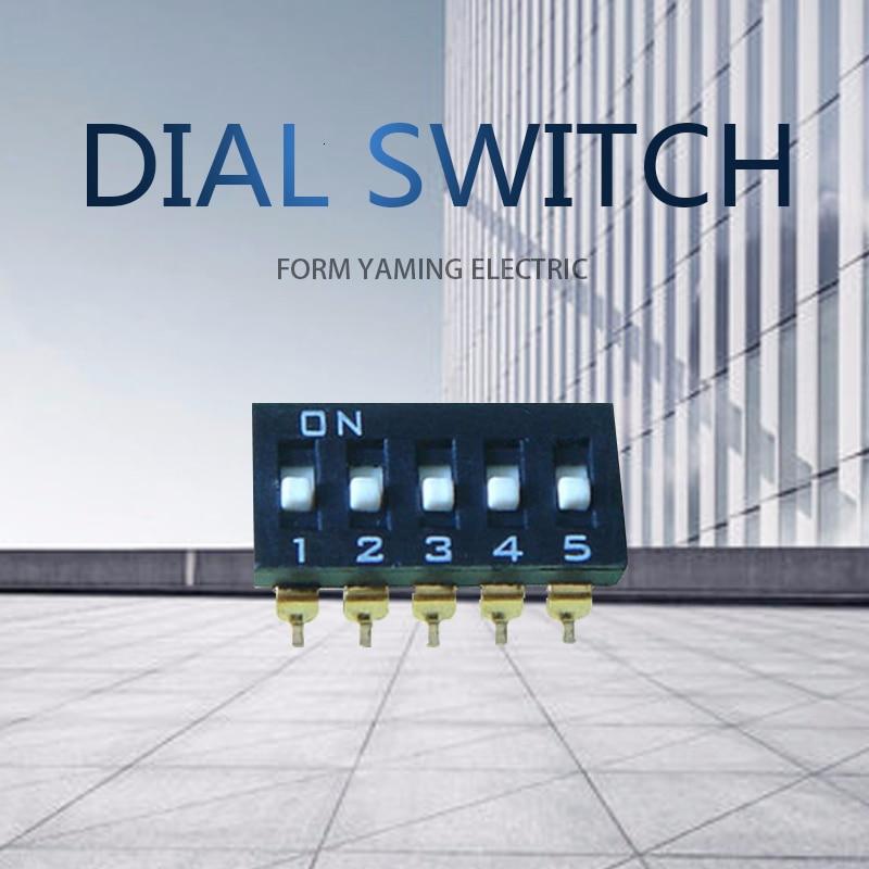 30 Uds botón interruptor del tacto 5 piezas subsidios negro asignar código interruptores de palanca 5 P separación de 2,54mm SMD