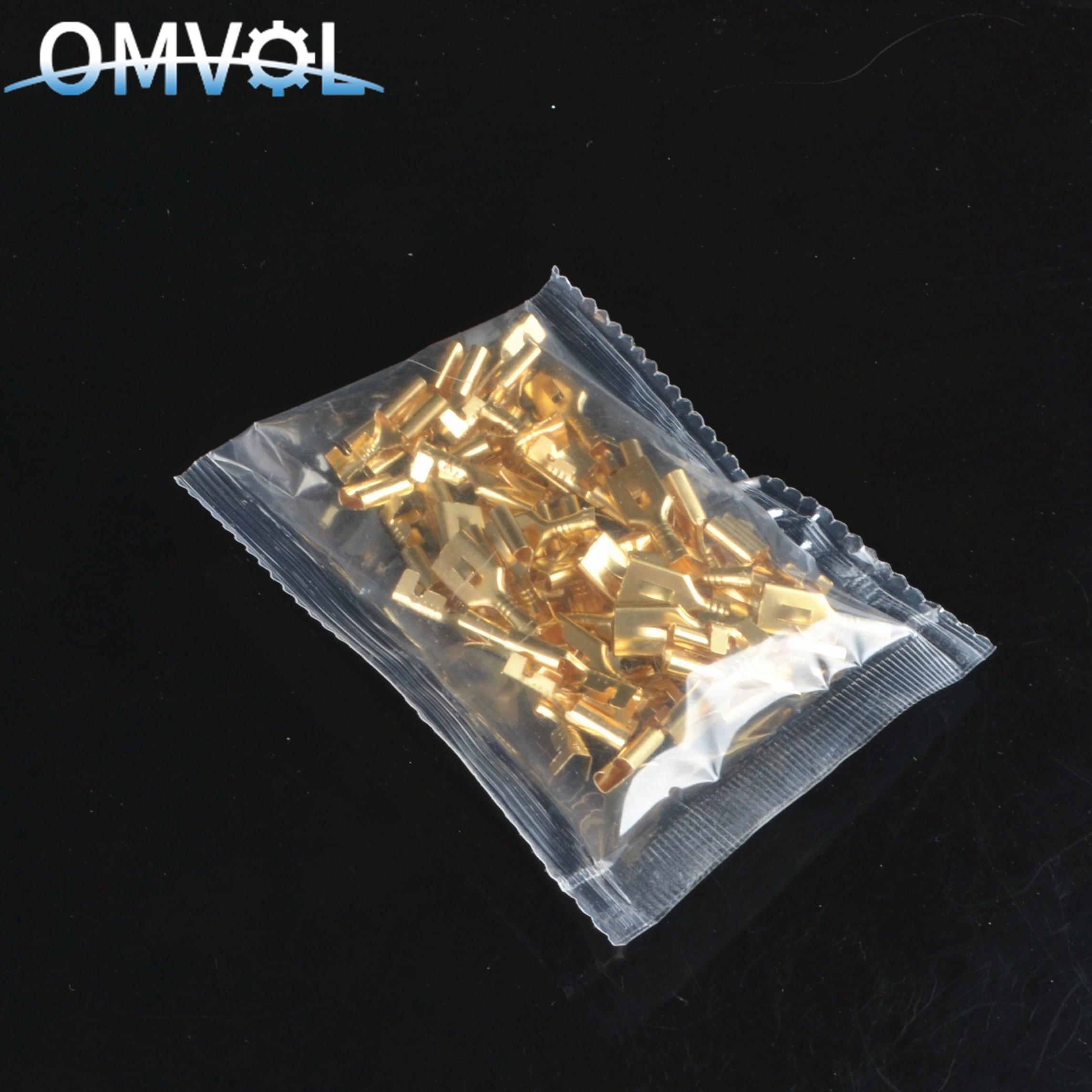 50pcs 6.3mm 6.3 Crimp Terminal Female Spade Connector