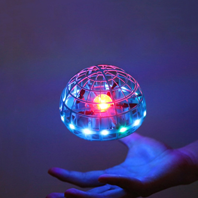2021 Flying Ball Spinner Ball UFO Boomerang Soaring Flying Toy Mini Drone LED Hand Gesture Control G