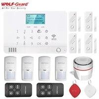 Loup-garde bricolage LCD GSM SMS RFID sans fil alarme a domicile systeme de securite App controle porte fenetre capteur PIR detecteur de mouvement ensemble