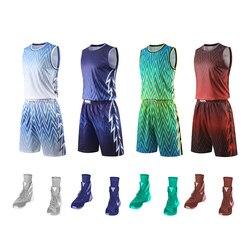 Totalmente sublimação escola basketball jérsei kits atacado de alta qualidade em branco treinamento de basquete uniforme