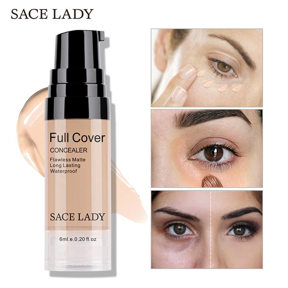 SACE גברת מקצועי עין קונסילר איפור בסיס 6ml מלא כיסוי עבור עיניים כהה מעגל פנים נוזלי מתקן קרם לעשות עד קוסמטי