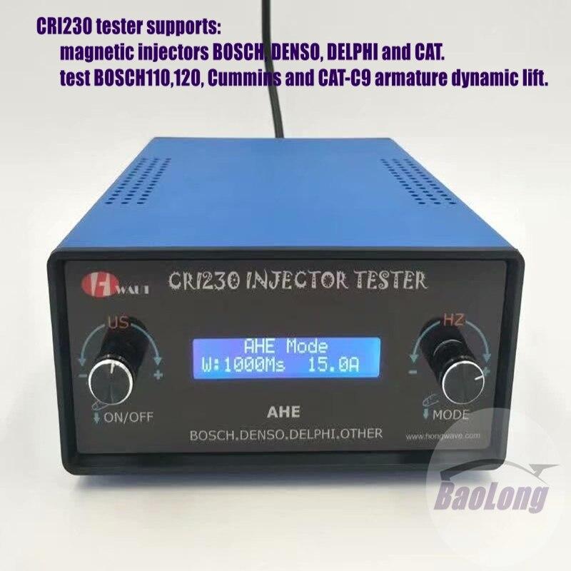 Für Bosch Denso Delphi KATZE common rail injektor tester CRI220, diesel injektor dynamische hub reise AHE tester CRI230 reparatur