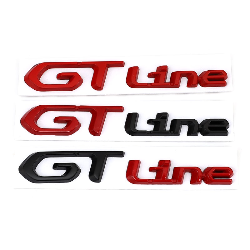 Car Sticker GT Line for KIA Forte Optima Picanto Stinger Sorento Renault Clio Grandtour Megane Peugeot GT RCZ 308 508 3008 5008