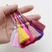 Polyester soie gland frange bricolage maison rideau tissu couture artisanat fournitures pendentif à breloque signet Tasse 10 pièces LS4 de haute qualité
