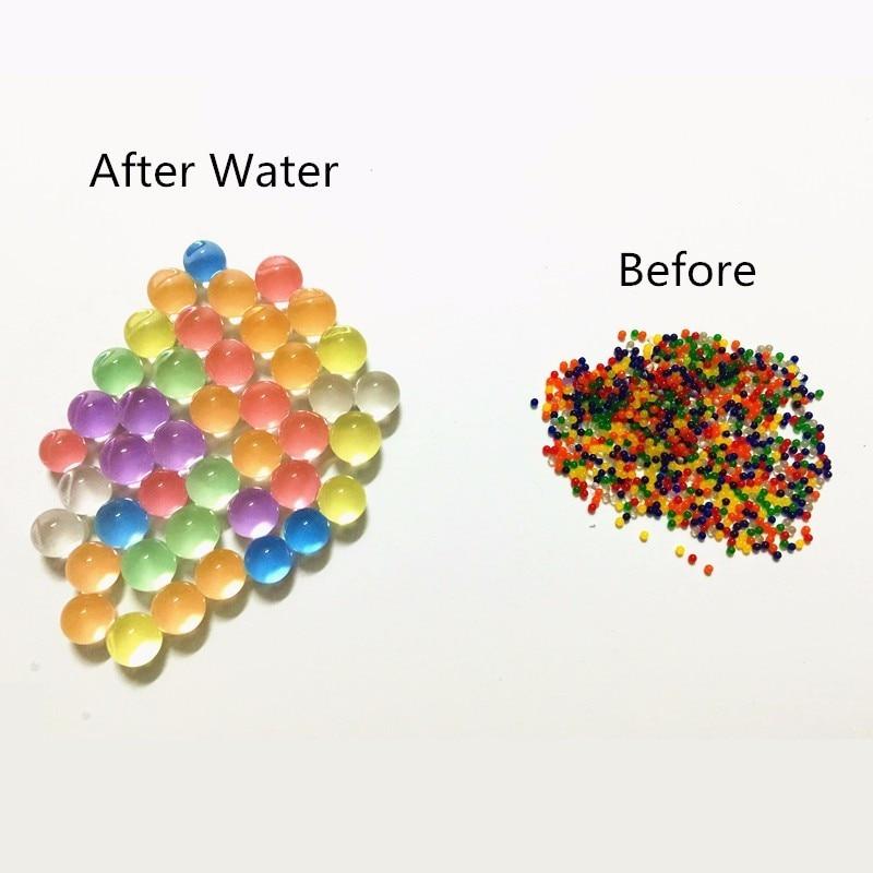100Pcs/Bag Pearl Shaped Crystal Soil Water Beads Mud Grow Magic Jelly Balls Aqua Soil Hydrogel  Gel Home Decor Kids Children Toy