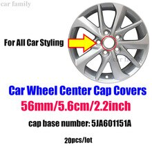 "Gute Qualität 20 teile/los 56mm Auto Emblem Rad Center Caps 2,2 ""5,6 CM ABS/Aluminium Für skoda mazda suzuki toyota volvo kia"