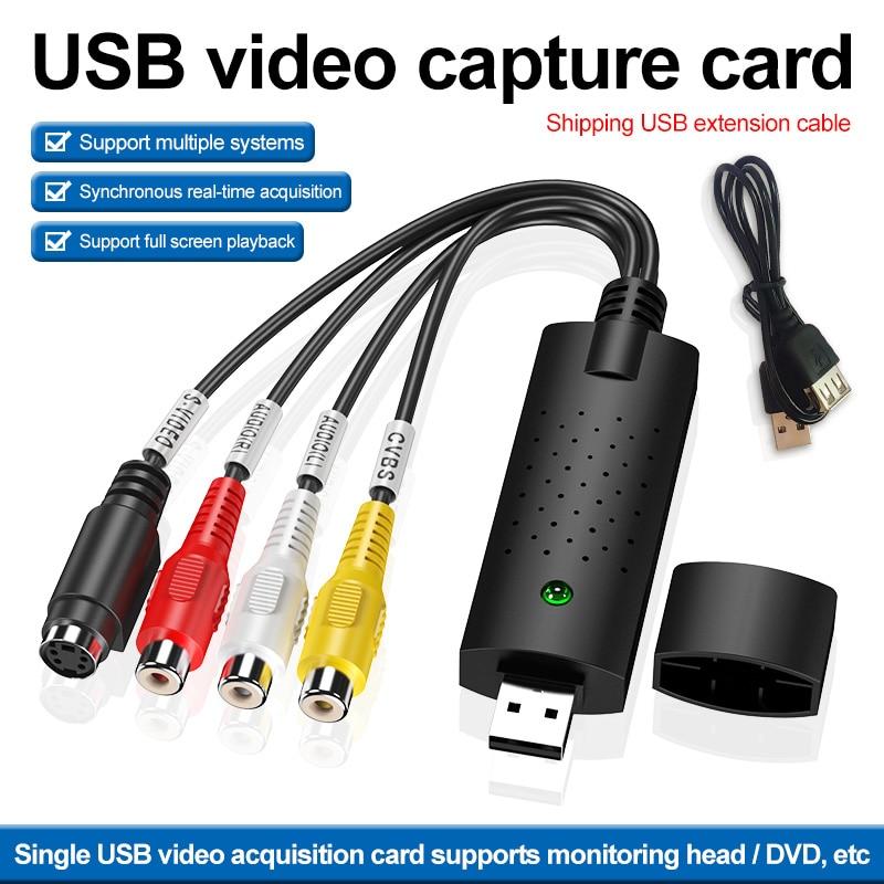 Video de captura de Audio Cable adaptador de tarjeta DVD TV VHS...