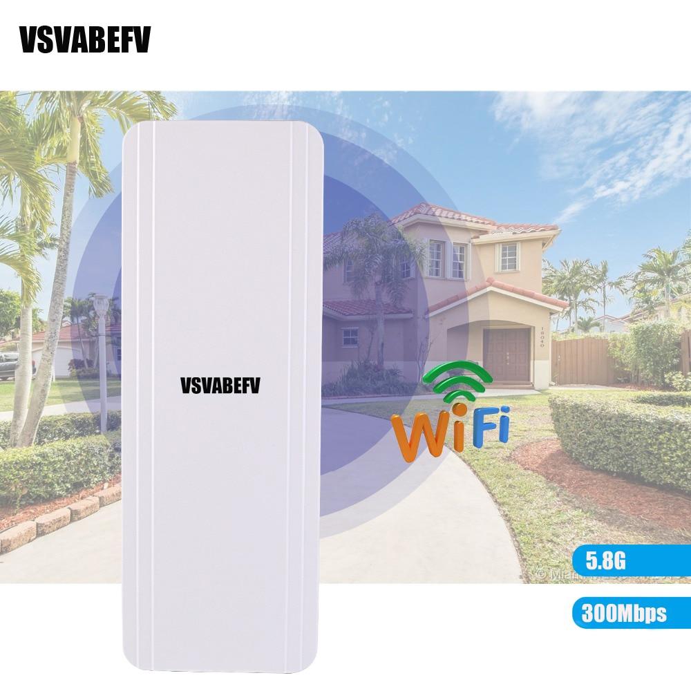 vsvabefv 300mbps sem fio ponte exterior 58g wifi repetidor ap roteador ponto a ponto