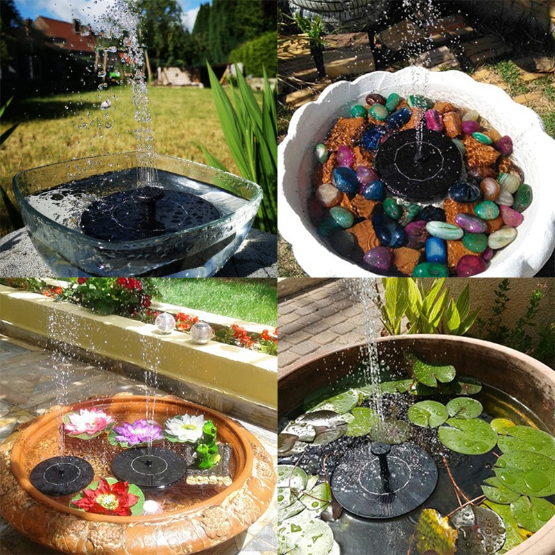 HUHULE Solar Mini Fountain Kids Summber Birthday Party Decoration Outdoor Toys Water Pump Garden Deco Pool Pond Decoration