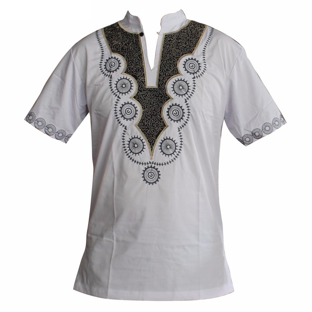 Dashiki Embroidered African clothes Tribal Ethnic Succunct Top Ankara Mans tops Muslim T-Shirts одежда для мужчин