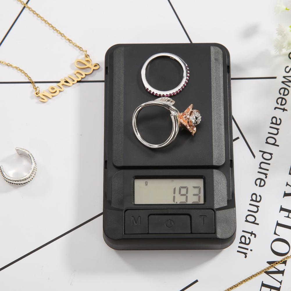 Minibáscula de peso de bolsillo LCD, báscula creativa de alta precisión de bajo consumo de energía, balanza de peso, báscula de joyería