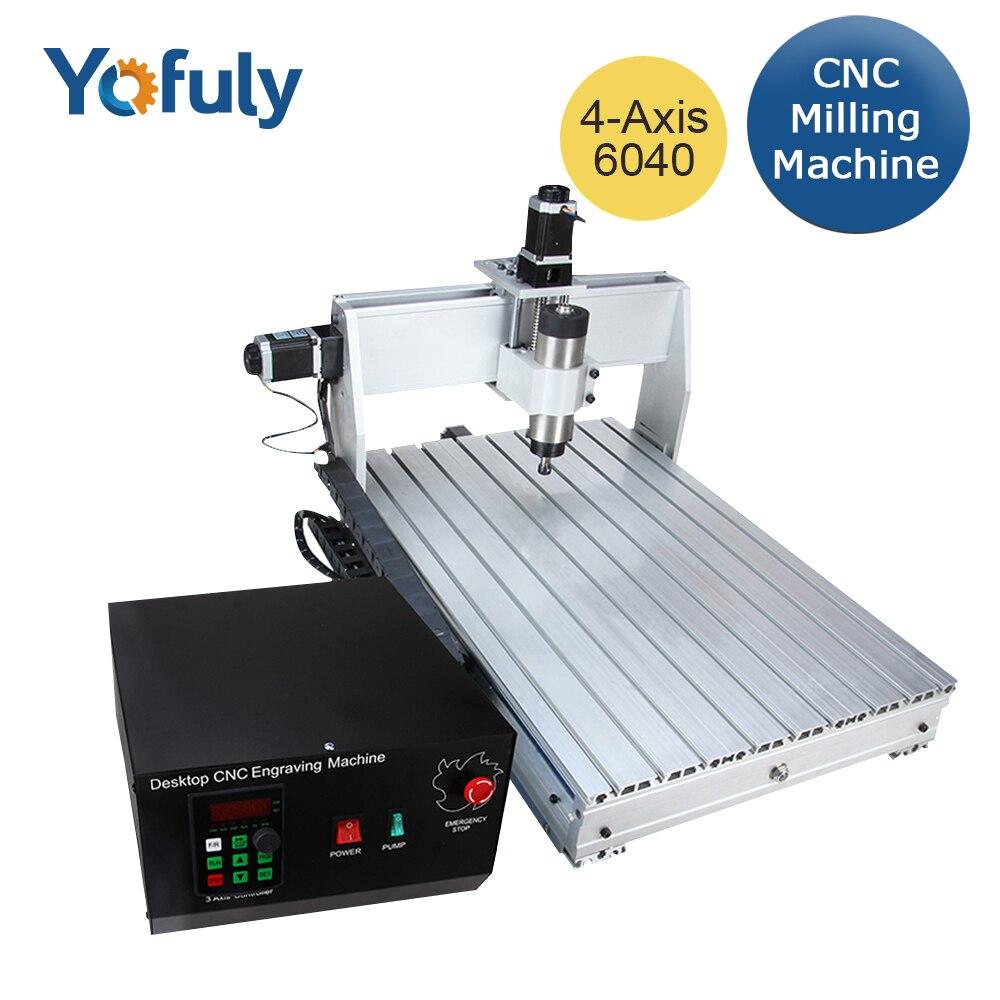 2.2kw CNC 6040 3 osi 4 osiowa frezarka CNC frezarka do drewna frezarka do drewna USB Mach3 kontroli do obróbki drewna frezowania CNC grawer