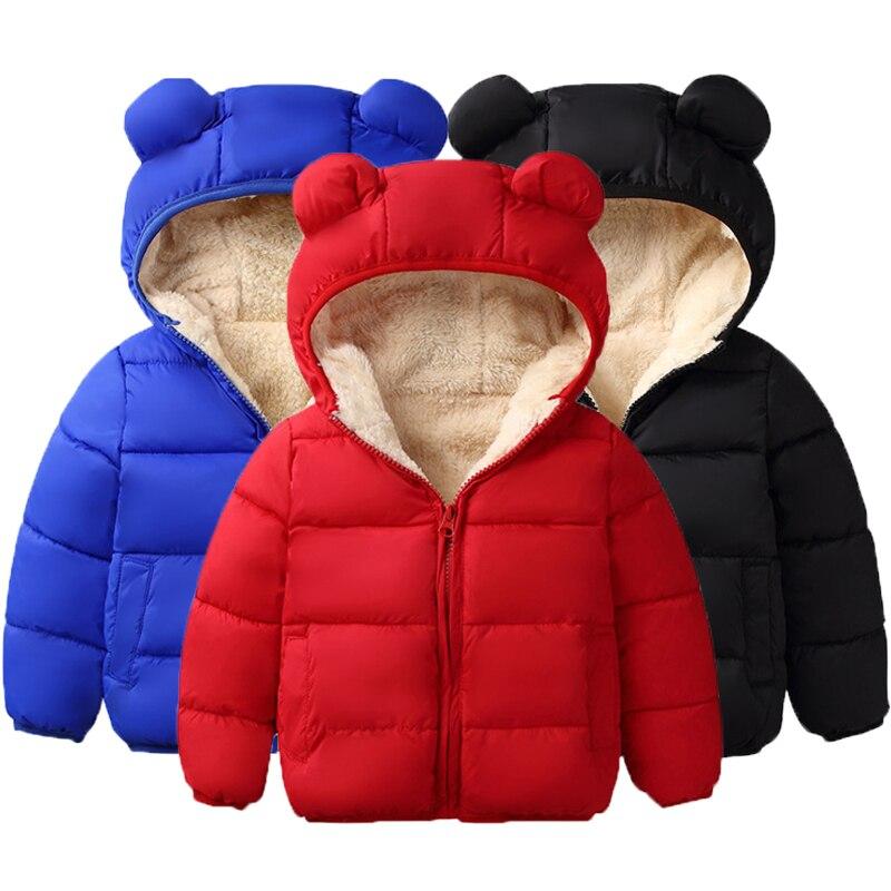 New Kids Jackets Winter Jacket Boys  Warm Kids Cartoon Coats Cotton Children Outerwear&Coats