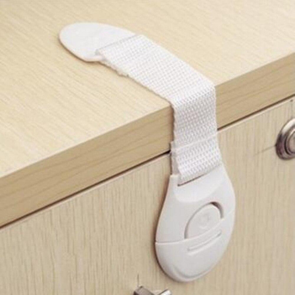 5 unids/lote Protección infantil seguridad para bebés cerradura para niños armario armarios para puertas cajones para niños refrigerador inodoro cierres de plástico a rayas