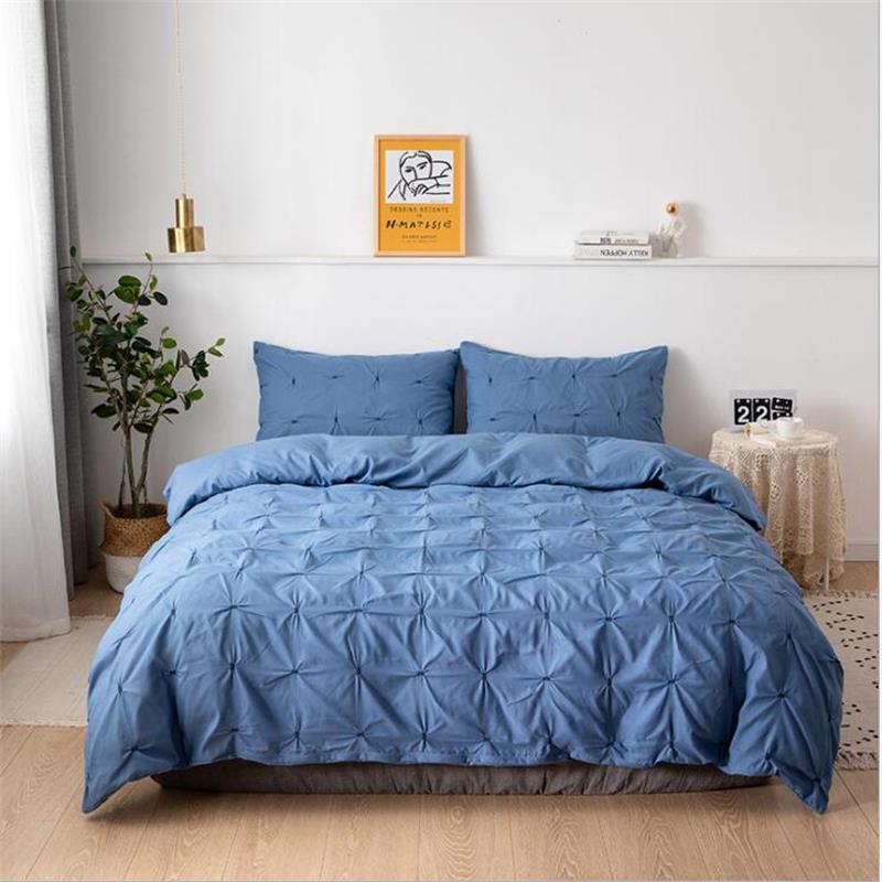 2020 طقم سرير بسيط أبيض حاف الغطاء طقم سرير هندسي مسطح الرنة المفارش 4 قطعة السرير Linenset الشمال المنسوجات المنزلية