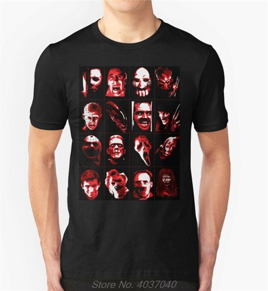 Camiseta de la película de terror de la secta de Halloween Hannibal Kruger guestido chlucky Scream modelos básicos camiseta harajuku