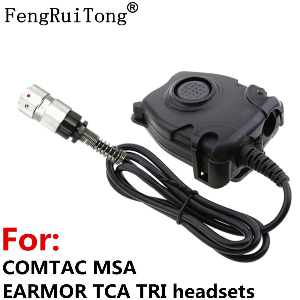 6-PIN تكتيكات بلتور PTT ل COMTAC MSA سماعة الأذن TCA ثلاثي الناتو التوصيل ، ل PRC-148 التكتيكية 6-PIN اسلكية تخاطب PRC-152
